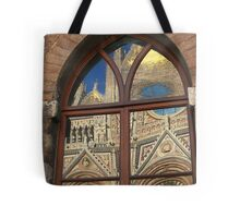 Siena cathedral reflection, Siena, Italy Tote Bag