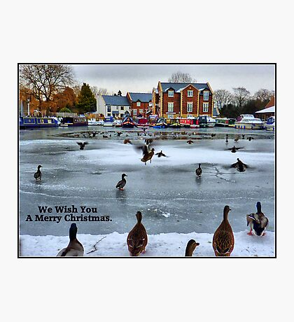 Frozen Lancaster Canal at Garstang. Photographic Print