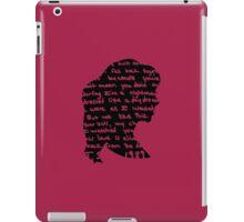 Handwritten Lyrics iPad Case/Skin