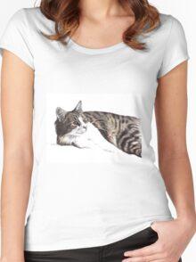 Feelin' Lazy Women's Fitted Scoop T-Shirt