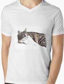 Feelin' Lazy Mens V-Neck T-Shirt