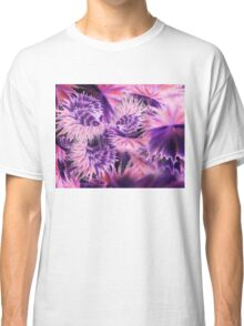 Abstract Purple Flowers Classic T-Shirt