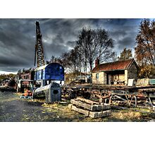 Tanfield Railway Yard Photographic Print