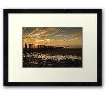 Sangatte beach at sunset Framed Print