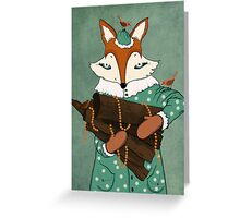 Blue eyes fox Greeting Card