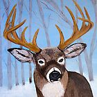 Winter Buck by maggie326