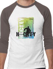 Abstract Hockey Men's Baseball ¾ T-Shirt