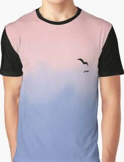 Rose Quartz and Serenity Sky  Graphic T-Shirt