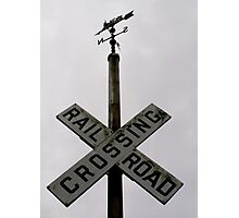 RR CROSSING Sign Photographic Print
