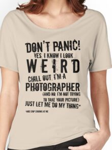 I'm A Photographer (black lettering) Women's Relaxed Fit T-Shirt