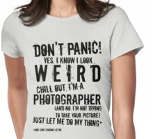 I'm A Photographer (black lettering) Womens Fitted T-Shirt