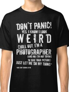 I'm A Photographer (white lettering) Classic T-Shirt