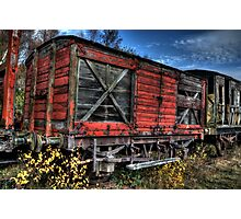 Red Waggon Photographic Print