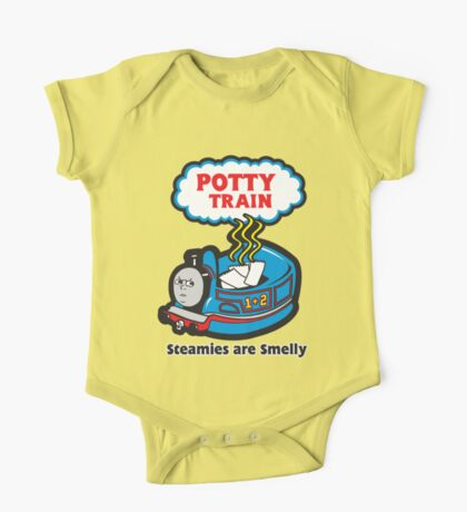 Potty Train: Steamies are Smelly! One Piece - Short Sleeve