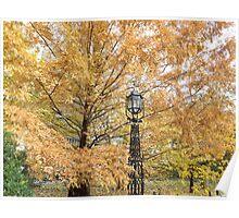 Autumn Colors, City Hall Park, Lower Manhattan, New York City Poster