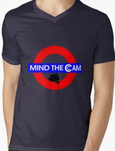 Mind the Cam Mens V-Neck T-Shirt