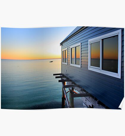 Busselton Jetty Colours Poster