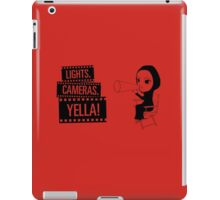 Lights. Cameras. YELLA! iPad Case/Skin