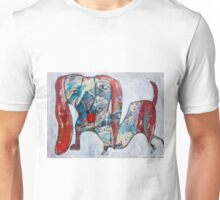 Dachshund Playing in Snow Unisex T-Shirt