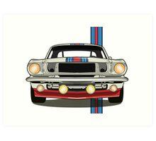 Martini Mustang Art Print