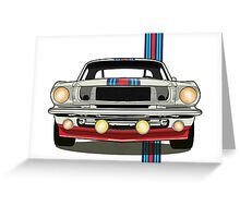 Martini Mustang Greeting Card