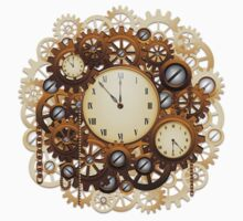 Steampunk Vintage Style Clocks and Gears Kids Clothes
