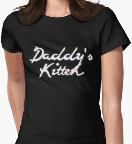 Daddy's Kitten Womens Fitted T-Shirt