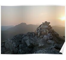 Great Gable at dusk Poster