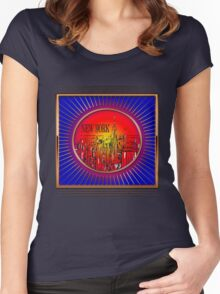 Vintage New York  Women's Fitted Scoop T-Shirt