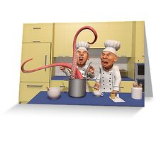 Too Many Cooks New Series -  The Food Strikes Back Greeting Card