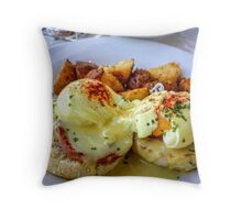 Eggs Benny Throw Pillow