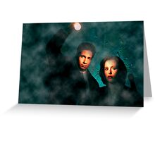 Scully and Mulder - The X Files Greeting Card