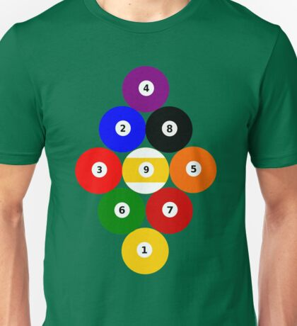 Nine-Ball Rack Unisex T-Shirt