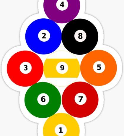 Nine-Ball Rack Sticker