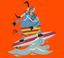 Cool Bull On Surfing!!! Kids Clothes