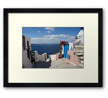 Typical greek Framed Print