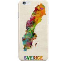 Sweden Watercolor Map iPhone Case/Skin