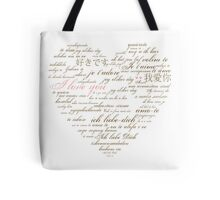 I Love You in Many Languages Tote Bag