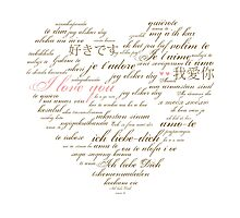 I Love You in Many Languages Photographic Print