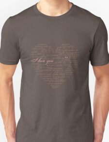 I Love You in Many Languages Unisex T-Shirt