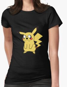 jake pikachu Womens Fitted T-Shirt