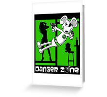 Danger Zone - green Greeting Card