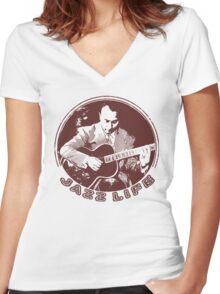 Django Reinhardt Women's Fitted V-Neck T-Shirt