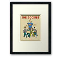 The Goonies - Beige Framed Print