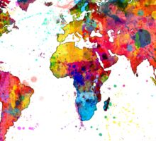 Map of the World Map Watercolor Sticker