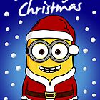 Santa Minion - Version 1 (with snow) | THE PERFECT CHRISTMAS CARD FOR YOUR FRIENDS by lemontee