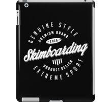 Skimboarding Extreme Sport  White Art iPad Case/Skin