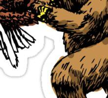 Eagle Vs. Bear Sticker