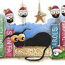 The Christmas shelf by StressieCat