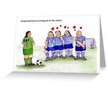 Funny gay cards, congratulations coming out of the closet Greeting Card